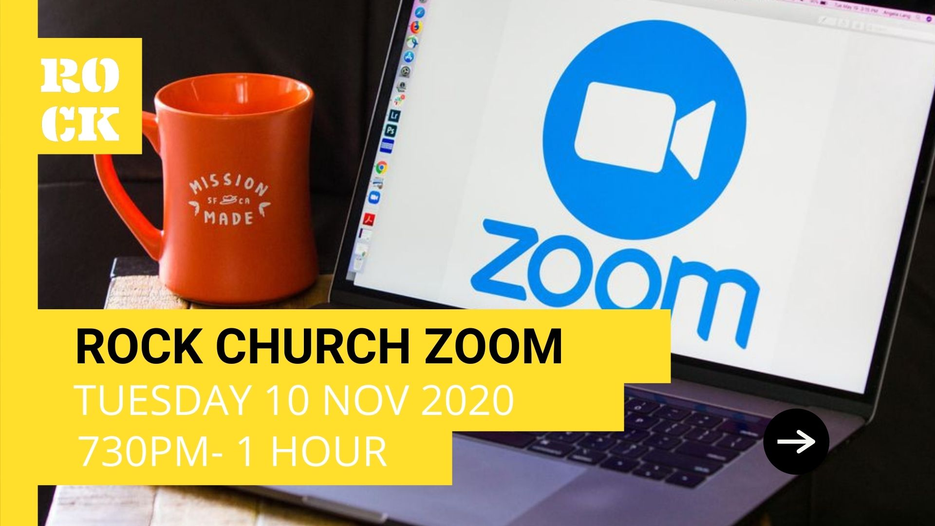 Rock Church - Zoom Meeting - 7:30pm Tuesday 19th November 2020