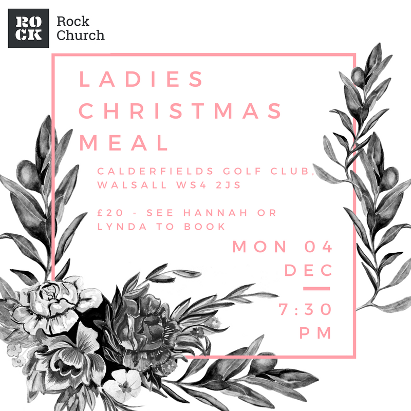 Ladies Christmas Meal - Calderfields Golf Club Walsall WS4 2JS - £20 see Hannah or Lynda to book. Wed 04 Dec - 7:30pm
